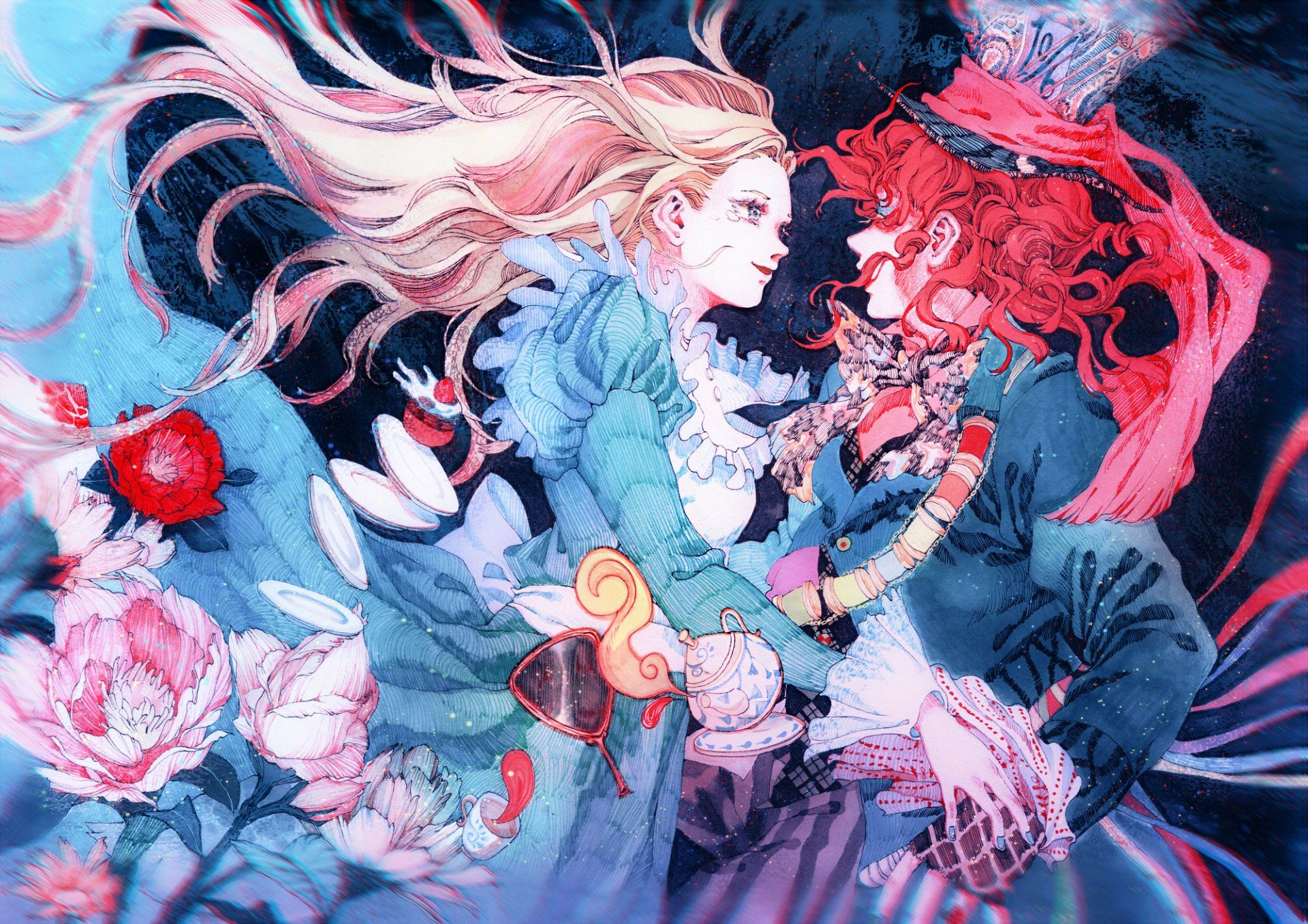 Anime Alice In Wonderland Mad Hatter Alice Alice In Wonderland