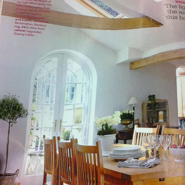 From Country Homes & interiors April 2012 issue. The sunlight streaming on the pine table. Ahhhhh!
