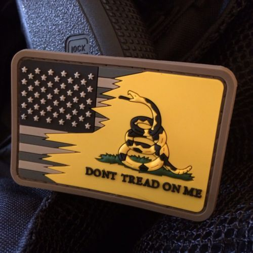 Black /& Orange American Flag PVC Morale Patch