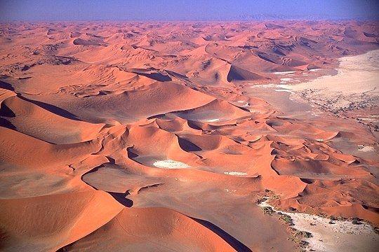 la région de sesriem, Namibie
