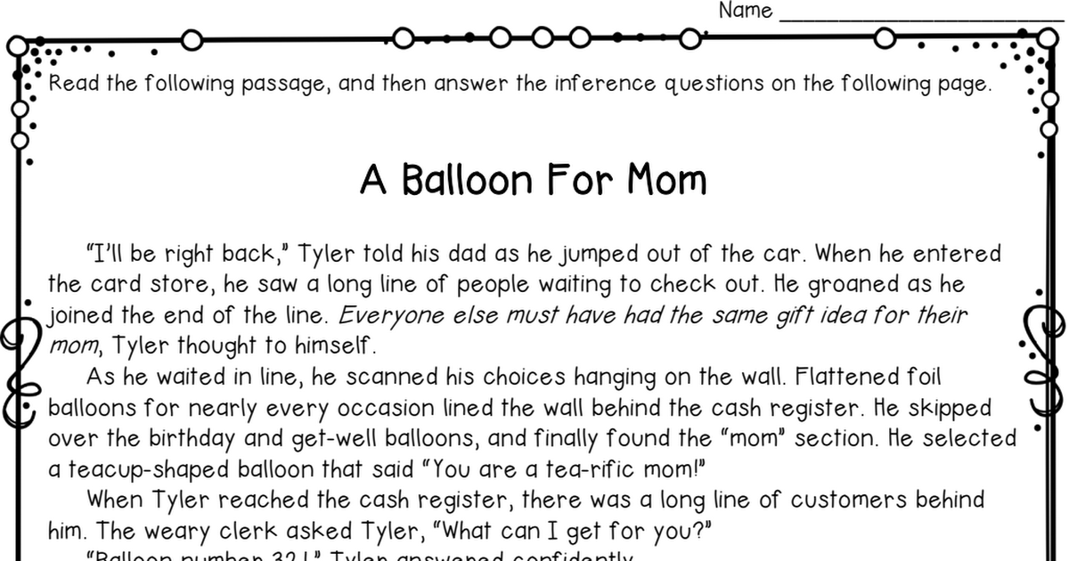 Inference Worksheet Freebie Pdf Elementary Teaching Inference