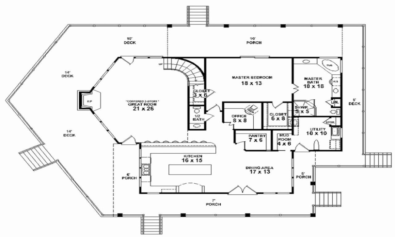 16 2 Bedroom Lake House Plans in 2020 (With images) Lake
