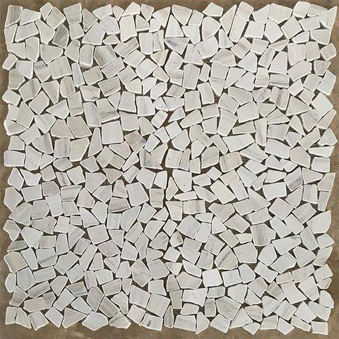 Wooden Vein Random Broken Marble Mosaic