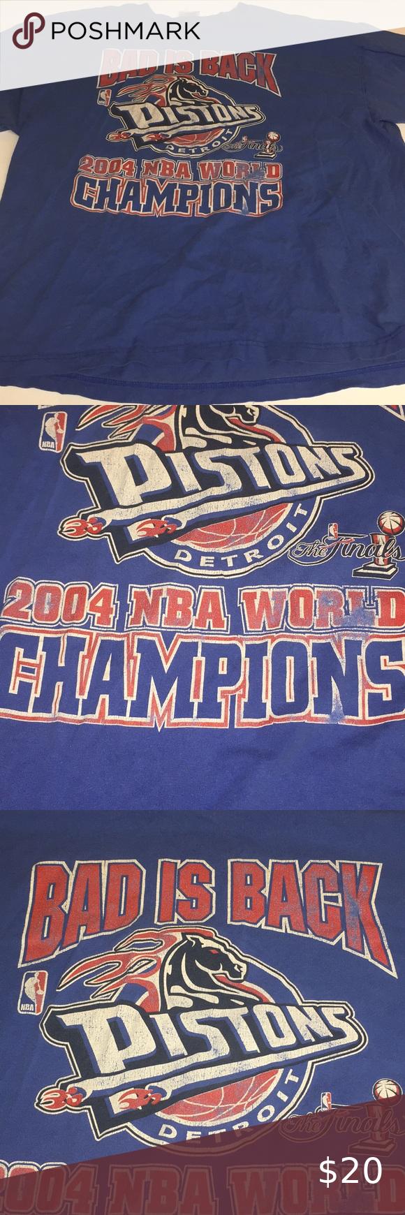 Detroit Pistons 2004 Nba World Champions T Shirt In 2020 Vintage Shirts Detroit Pistons T Shirt