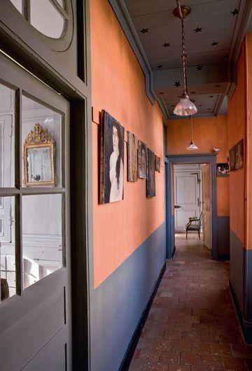 Relooking couloir : osez la couleur | Couloir, Côté maison et Oser