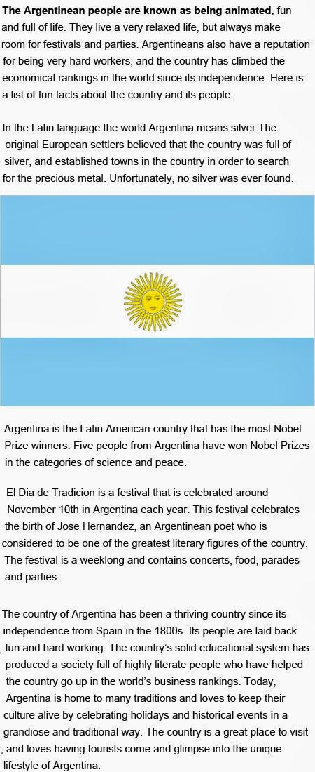 Argentina Fun Facts For Kids