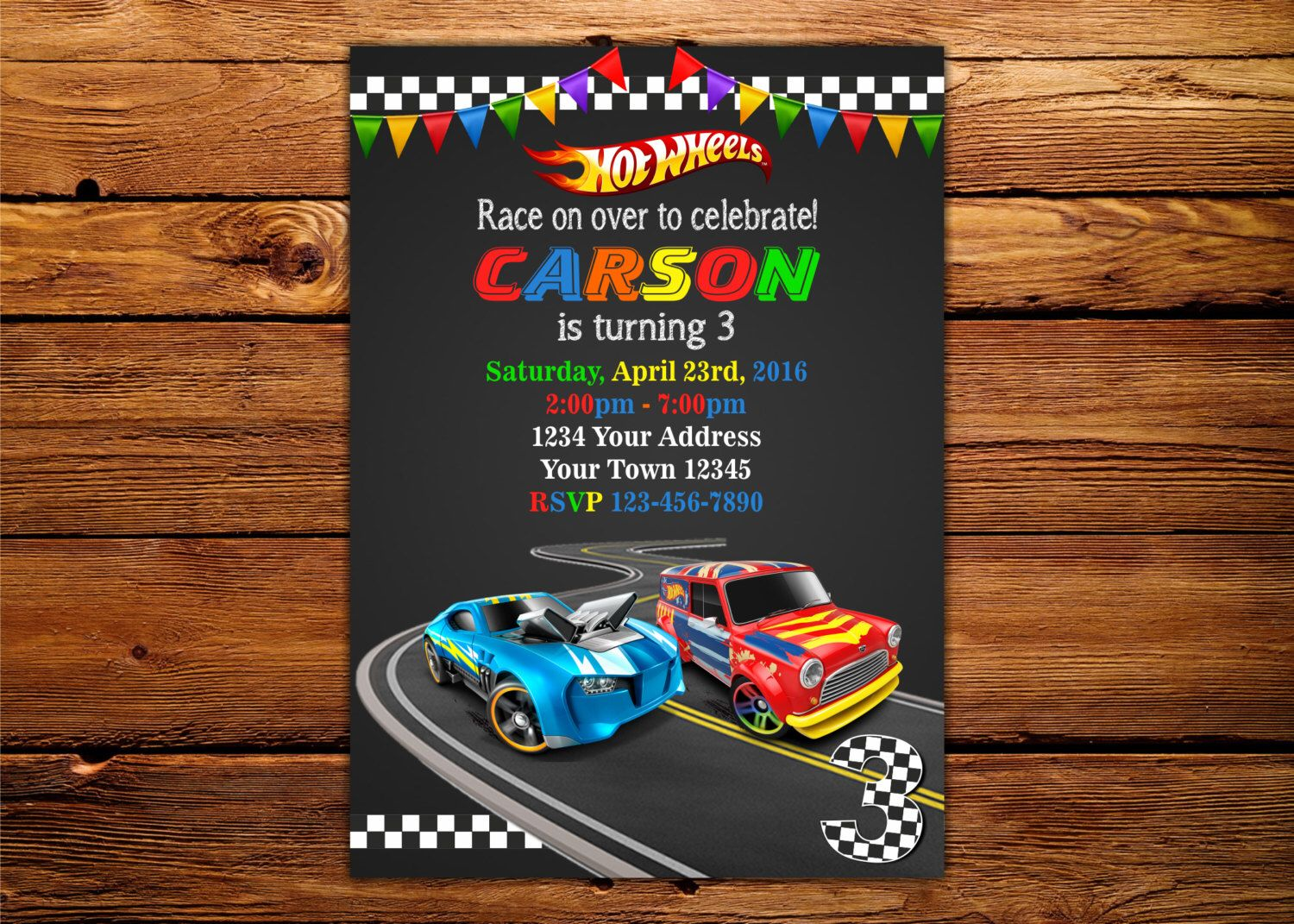 Hot Wheels invitation, Cars Invitation, Hot Wheels birthday invitation, racing birthday Invitation, track, cars, hotwheels, vert, racer /C1 by DigitalSentiments on Etsy https://www.etsy.com/listing/265198286/hot-wheels-invitation-cars-invitation