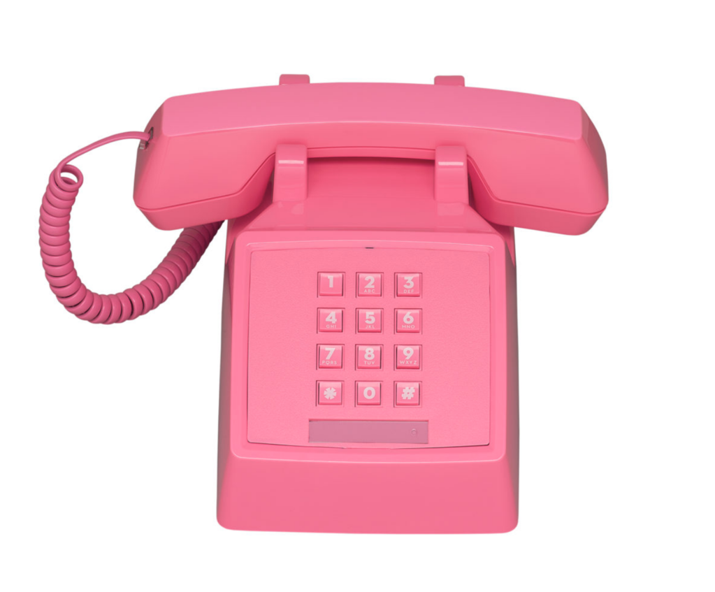 Vintage Style Phone In 2020 Retro Phone Vintage Telephone Pink Telephone