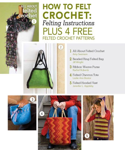 Felting Crochet Ultimate Guide: How to Felt Crochet with 4 Free ...