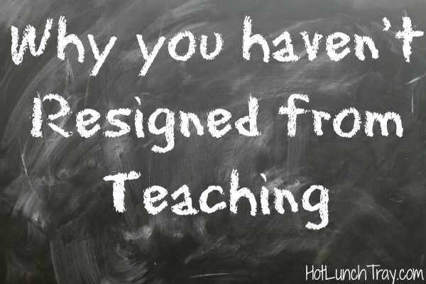 Why You Haven T Resigned From Teaching Hot Lunch Tray Teaching Teacher Motivation Teaching Profession