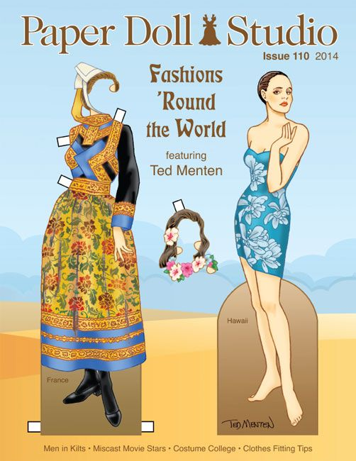 From OPDAG - Paper Doll Studio Issue 110 FASHIONS AROUND THE WORLD Featuring Ten Menten