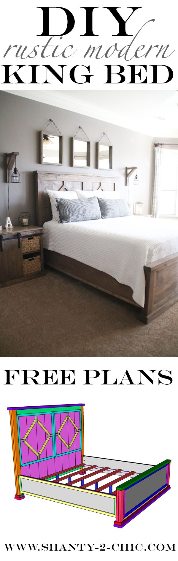 51 51 diy headboard ideas to make the bed of your dreams snappy pixels - Diy Rustic Modern King Bed