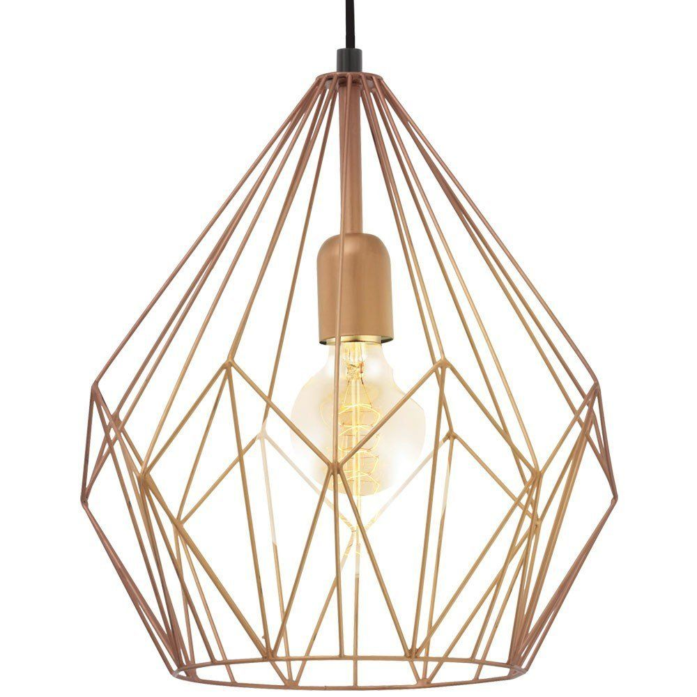 Retro Pendel Leuchte Hnge Lampe Esszimmer Kupferfarben Beleuchtung Eglo 49258 Amazonde