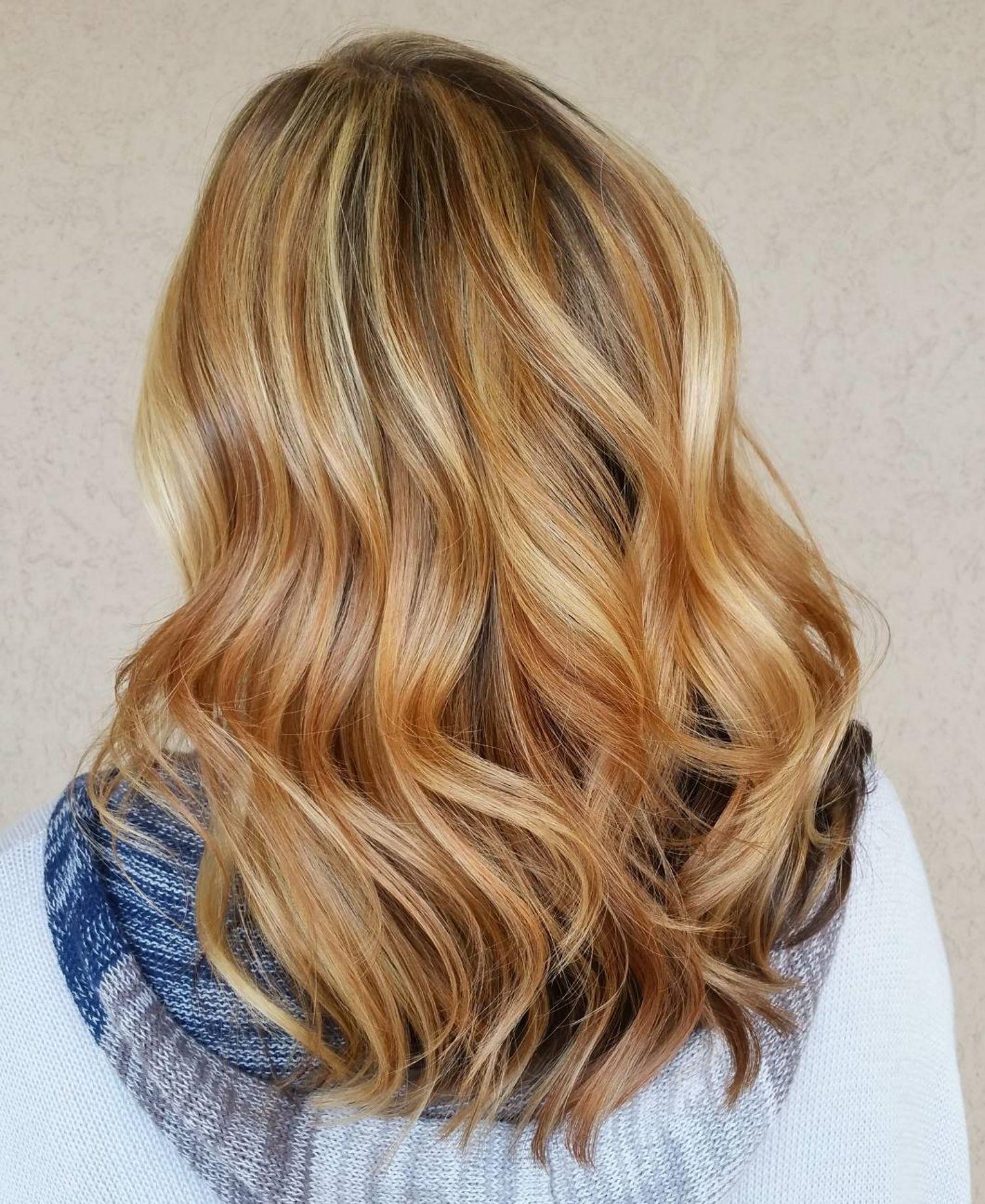 Strawberry Blonde Hair With Dark Underlayers Strawberry Blonde Hair Red Blonde Hair Strawberry Blonde Hair Color