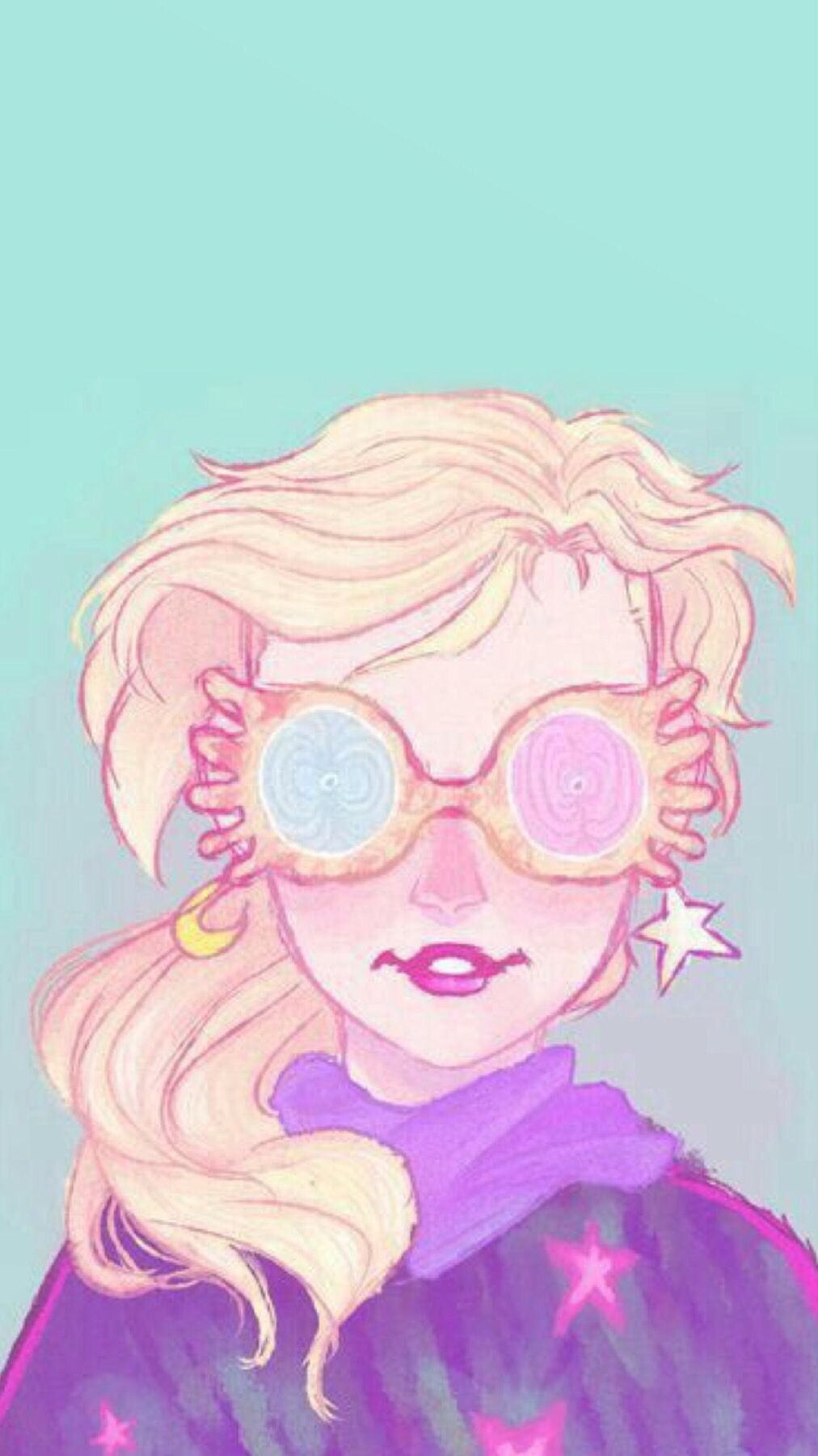 Luna Lovegood From Harry Potter Phone Wallpaper Harry Potter Drawings Harry Potter Art Harry Potter Characters