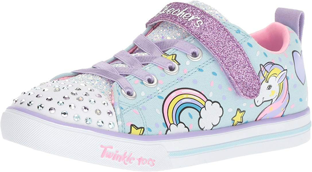 Details about Skechers Toddler Girl's Unicorn Craze PinkMulti Light Up Sneakers Shoes