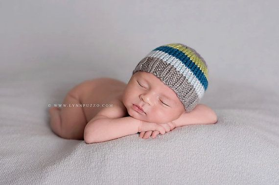 858795d4348 Perfect Fit Newborn Beanie grey gray blue green knit baby hat photography  prop  18