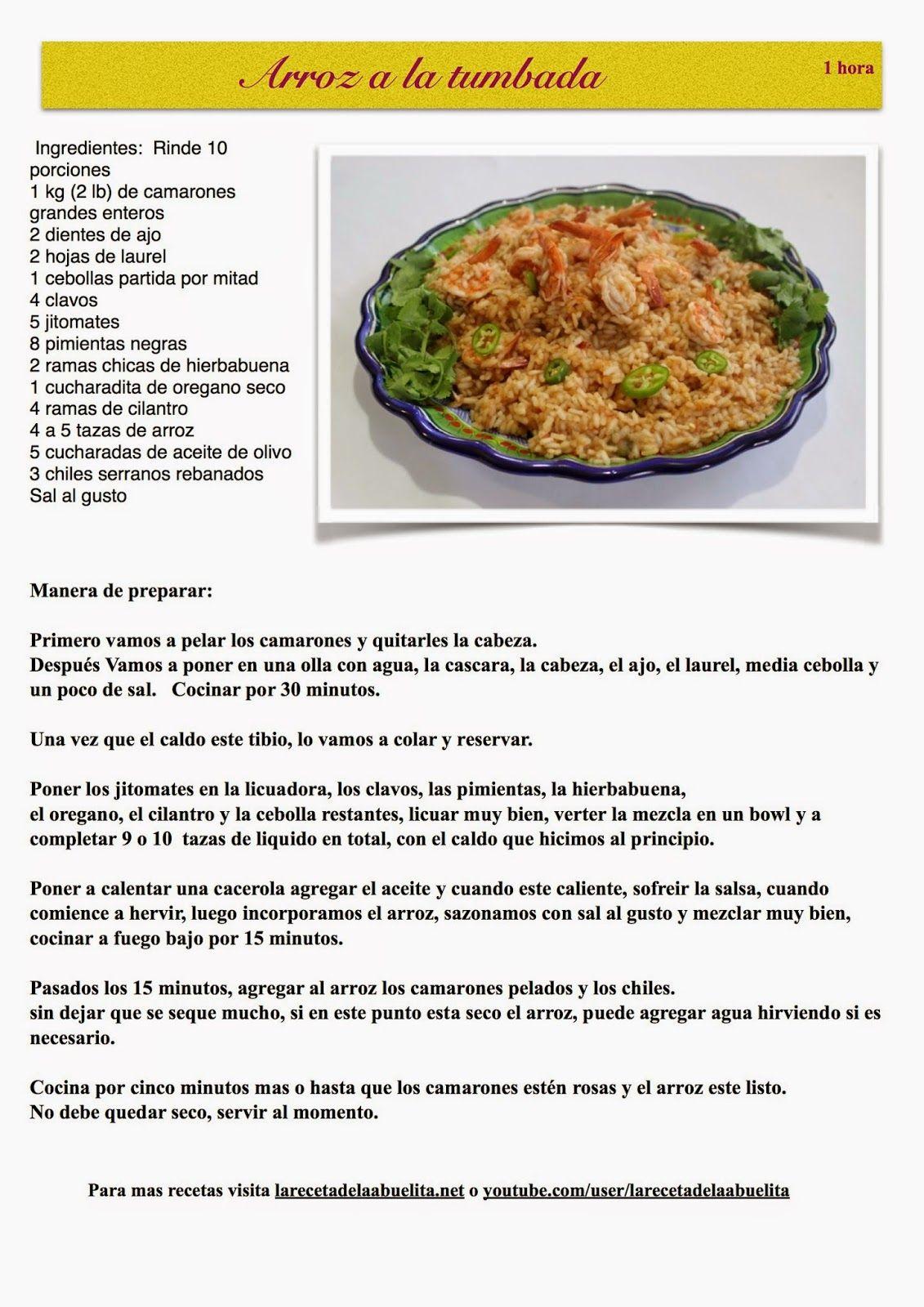 Recetas de comida mexicana y costura  Comida del mar