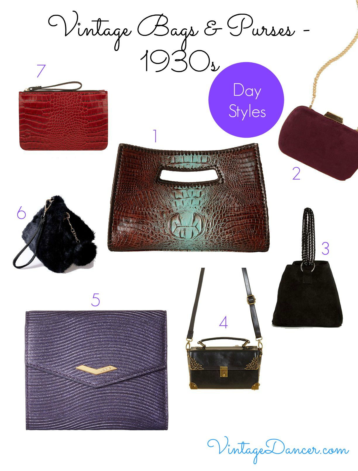 Choose From This Selection Of Bags To Create A 1930s Style