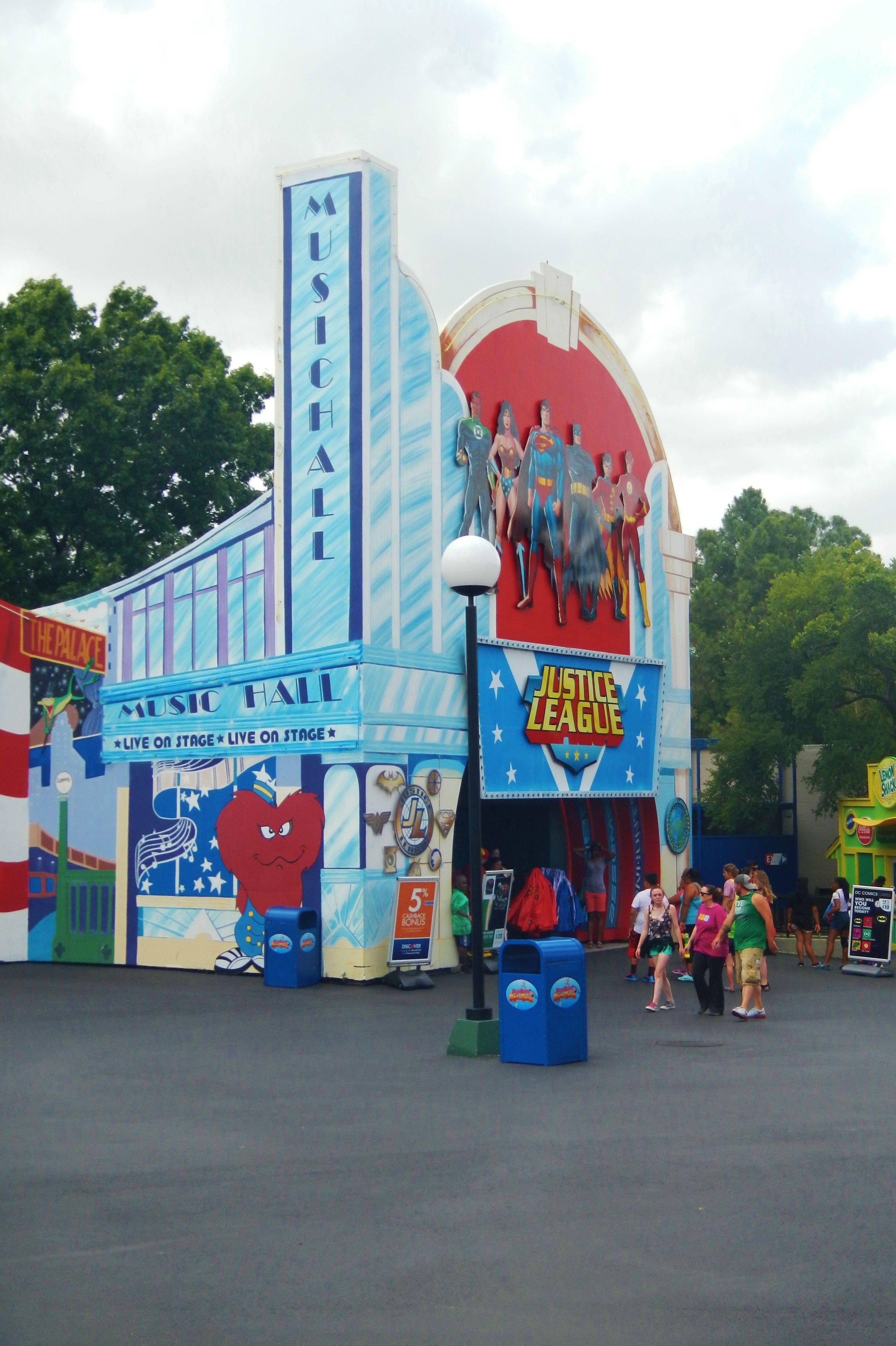 Sixflags Justiceleague Theme Park Six Flags