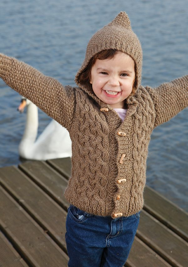 Free Knitting Patterns For Childrens Aran Sweaters : Zest Childs Cabled Cardigan Free Knitting Pattern Knitting Pinterest...