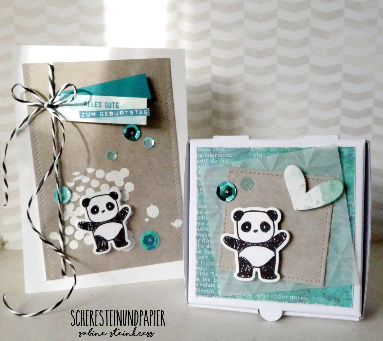 Geburtstag Panda | Karten basteln, Geburtstagskarte