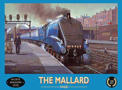 Mallard Steam Train Sign Reproduction