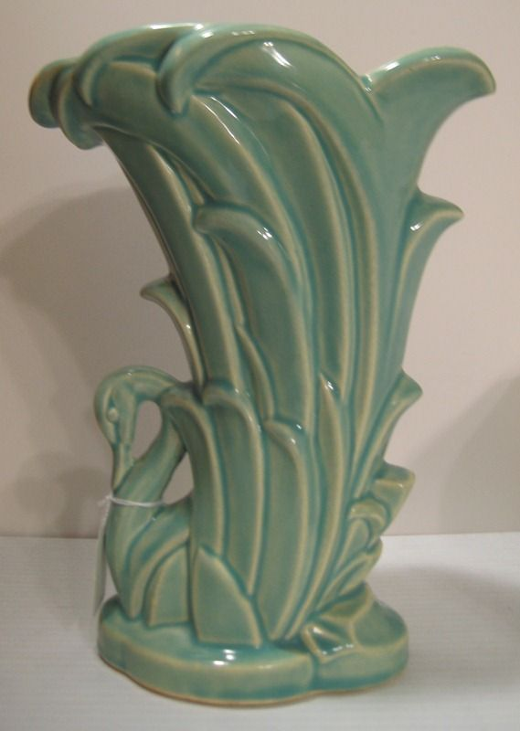 Mccoy Pottery Swan Vase From White Rose Antiques On The Lane On Ruby Lane Vintage Glass