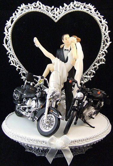 Harley Davidson Wedding Cake Toppers The Wedding Specialists Harley Davidson Wedding Biker Wedding Harley Davidson Cake