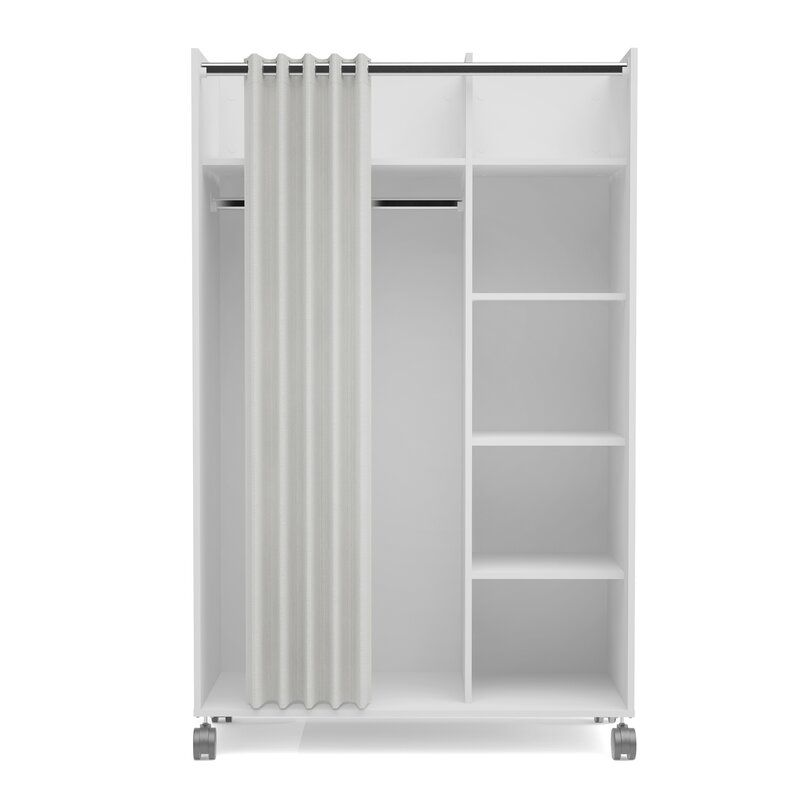 Loke Mobile Curtain Storage Center Armoire Wardrobe Storage Cabinet Wardrobe Storage Storage