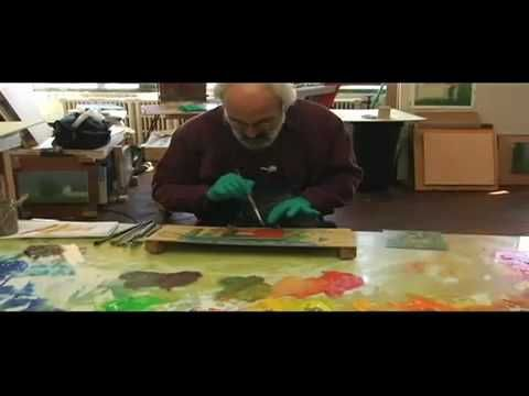 Making A Monotype Part 1 - Stuart Shils See a little sample of the process of how the artist creates a monotype www.cullowheemountainarts.org #printmaking #painting