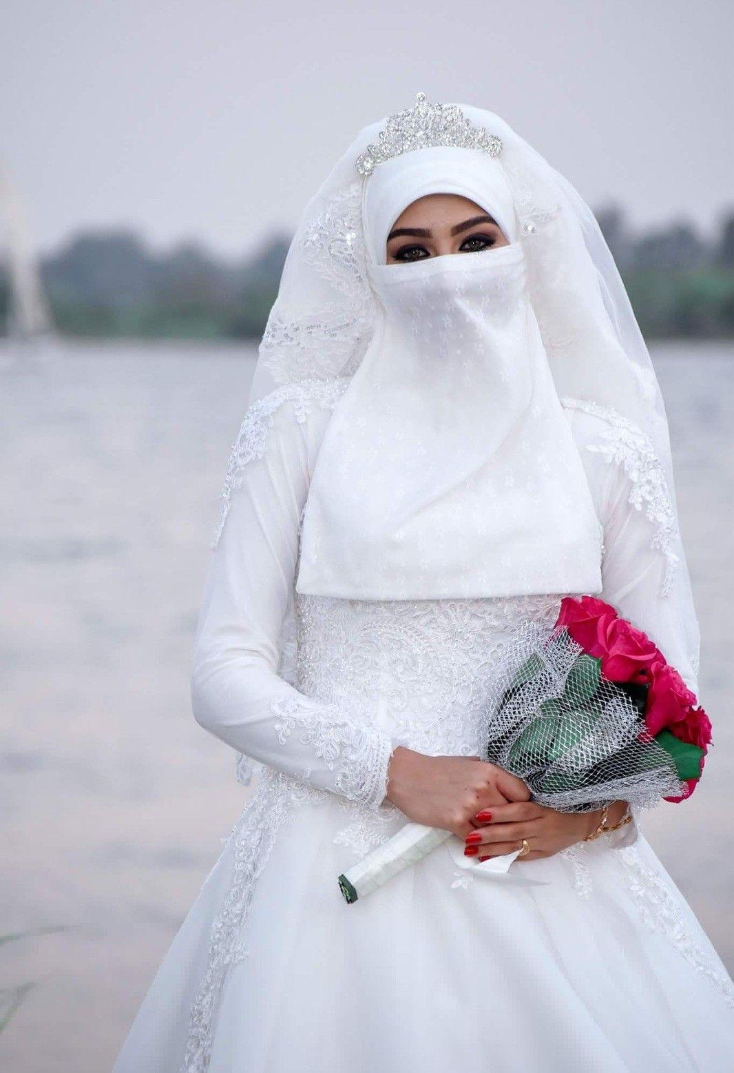 Niqabi bride  Muslim women hijab, Arabic wedding dresses, Hijab