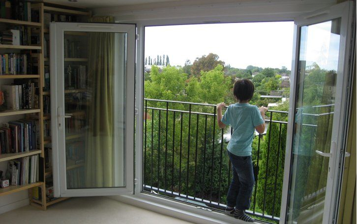 Juliette balcony enhances the openness of the room and for Modern french balcony