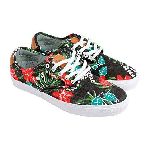 0ad0dc65eb Vans Chima Ferguson Pro Aloha Black Skateboard Shoes-Men 11.0