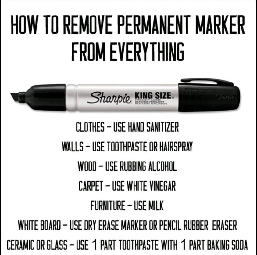 How To Remove Permanent Marker From Everything How To Remove