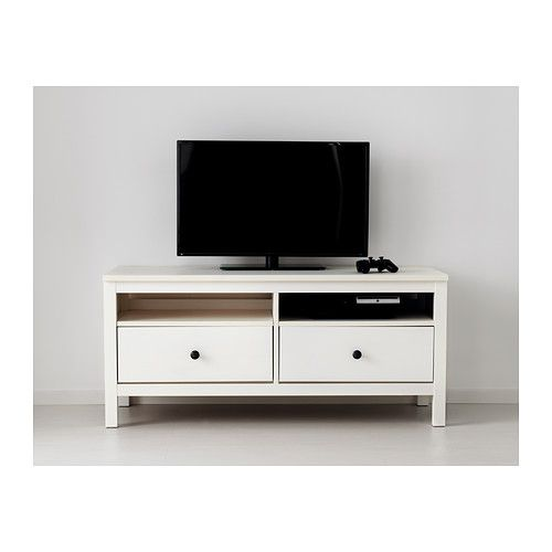 hemnes tv unit ikea solid wood has a natural feel large drawers make it easy to keep your. Black Bedroom Furniture Sets. Home Design Ideas