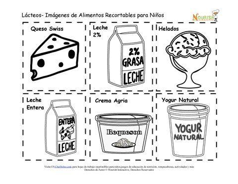 Recortables Imprimibles de Tarjetas de Memoria de Alimentos Lácteos ...