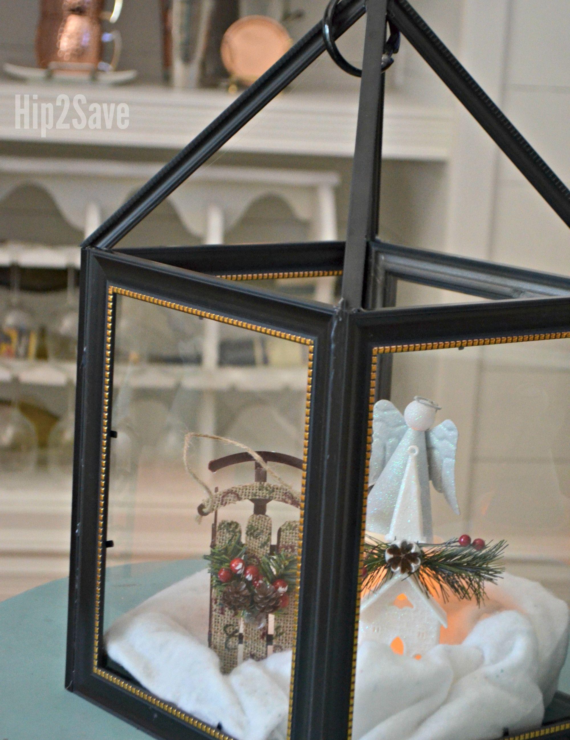 Diy Dollar Tree Picture Frame Lanterns Diy Crafts To Sell Dollar