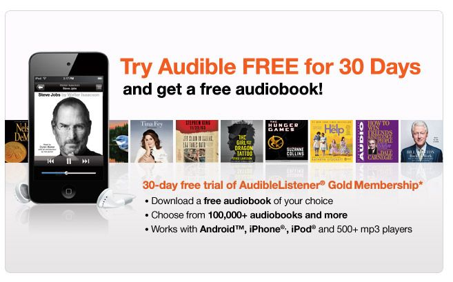 Support the Manic Mommies and try Audible free (now for 30 days) and get one free credit.