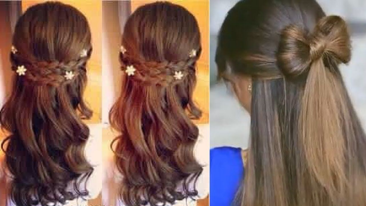 Easy everyday hairstyle for long medium hair part