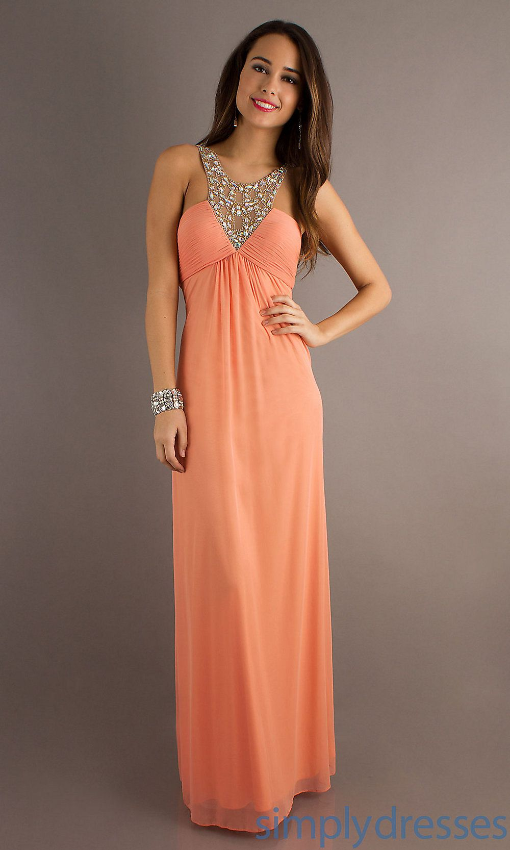Xscape sleeveless prom gowns elegant long dress simply dresses