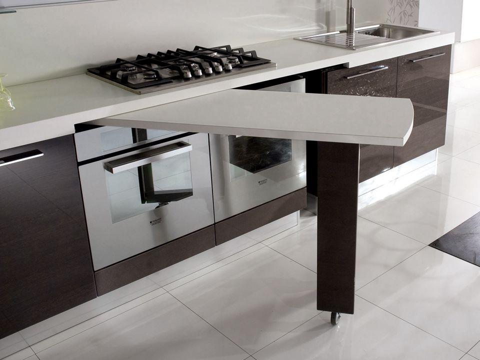 Tavolo girevole sottopiano cucine moderne e classiche - Tavoli salvaspazio per cucina ...