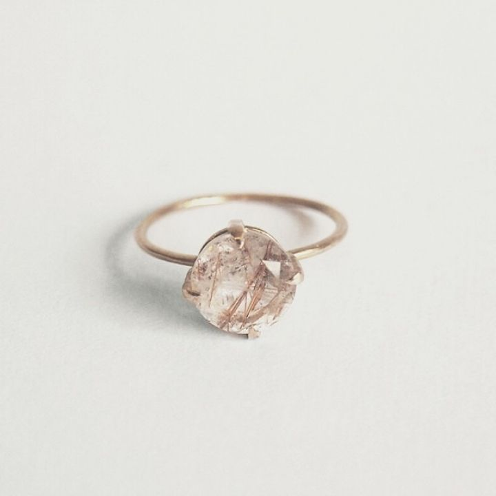 Natalie Marie Jewellery Wedding Style Inspiration Quartz Engagement Ring Rutilated Quartz Ring Wedding Jewelry