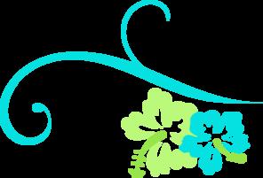 Hibiscus Swirl clip art - vector clip art online, royalty free & public domain
