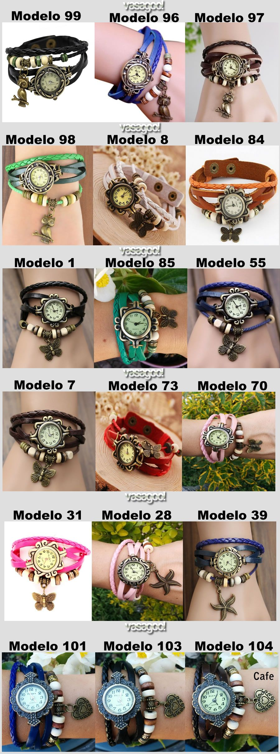 Reloj Pulsera Dama Mujer Manilla De Cuero Vintage 16 Disenos 7 900 Reloj Reloj Pulsera Reloj Pulsera Mujer