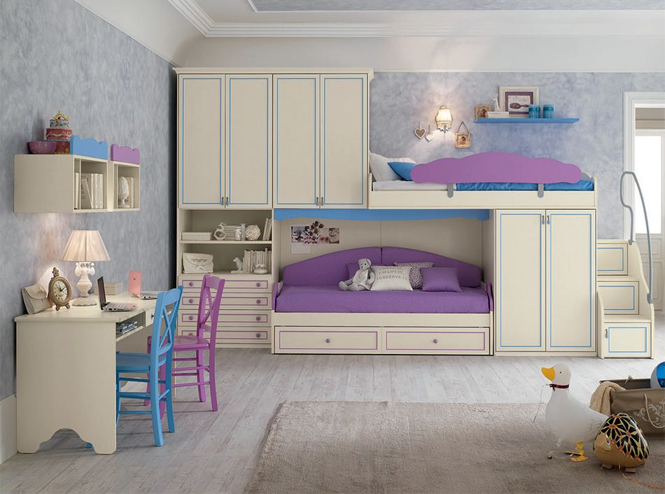 Spar Camerette A Ponte.Contemporary Bunk Bed Bedroom Set R110 By Spar In 2019