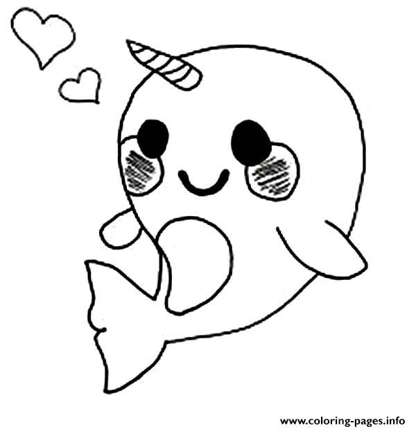 1451966700Cute-Baby-Narwhal-Coloring-Page.jpg (600×619) | kid ...