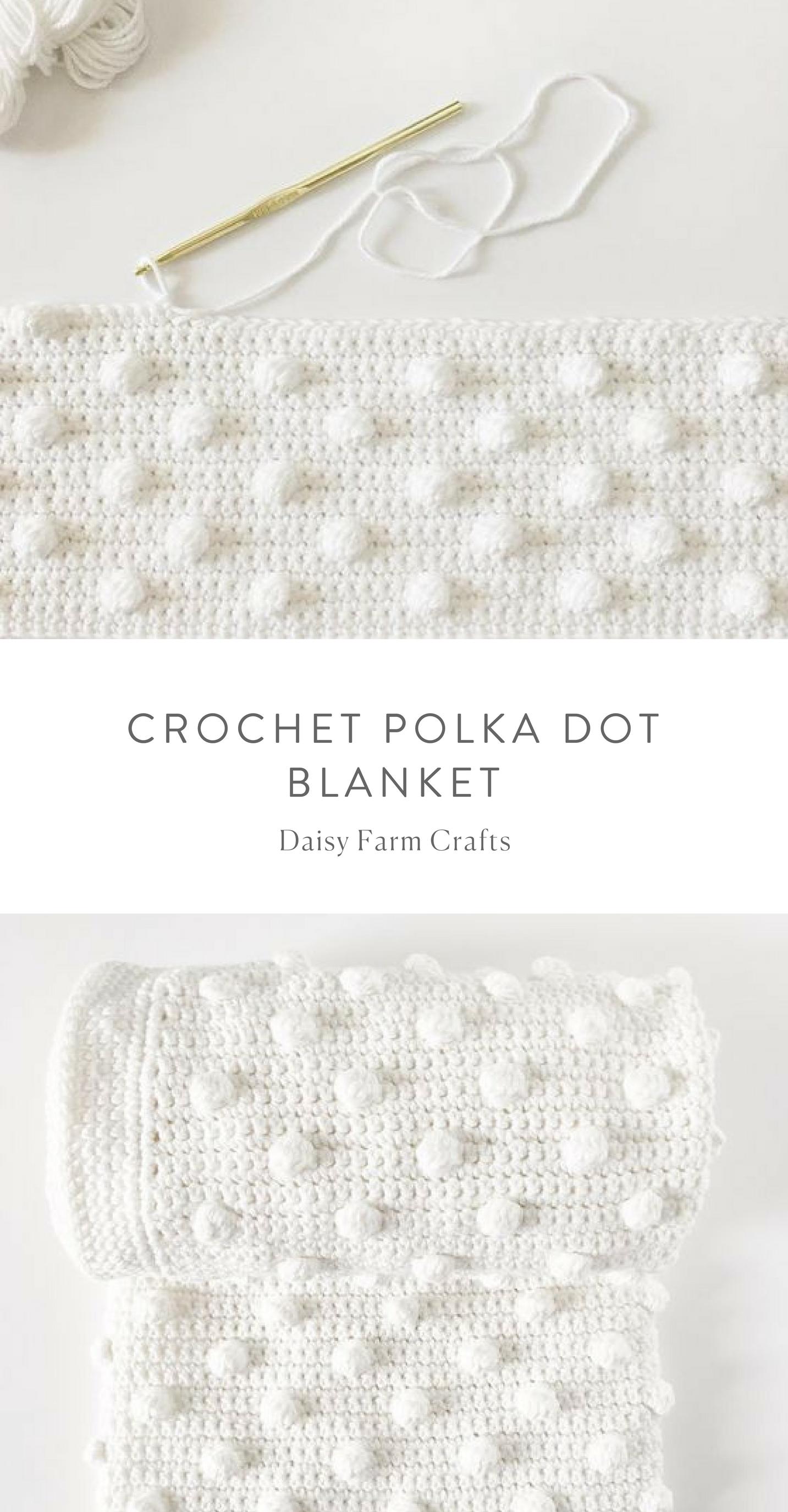 Free Pattern - Crochet Polka Dot Blanket #crochet | tejidos en 2018 ...