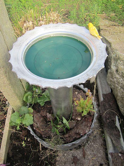 bebedero fuente para pajaros de jardin mis manualidades