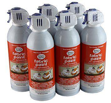 Simply Spray Upholstery Fabric Spray Paint 6 Pack Burnt Orange Review Fabric Spray Paint Upholstery Fabric Spray Paint Paint Drying